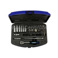 Socket Wrench Set With Ratchet 1/4' - socket_wrench_set_with_ratchet_1_4_912036.jpg