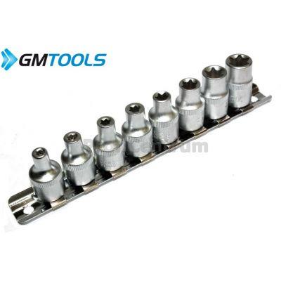 Torx Socket Set E4-E14 3/8' 8pc - GM-TOOLS - HEX KEYS TORX